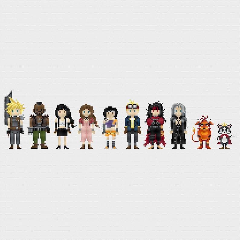 Final Fantasy VII Video Game Cross Stitch Pattern PDF Instant image 0