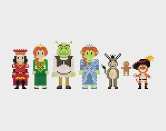 Shrek Cross Stitch Pattern PDF Instant Download