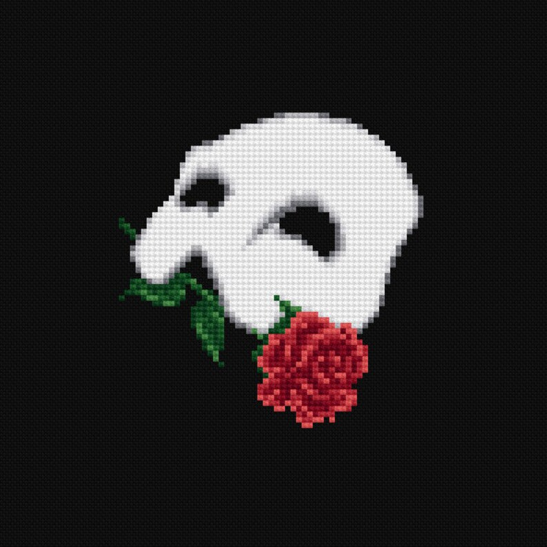 The Phantom of the Opera Musical Cross Stitch Pattern PDF image 0