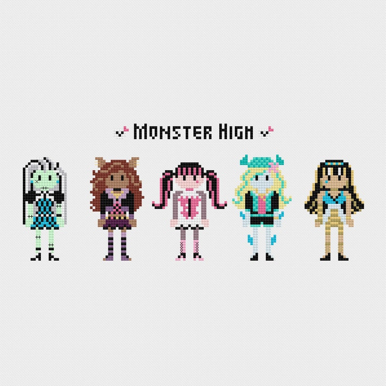 Monster High Cross Stitch Pattern PDF Instant Download image 0