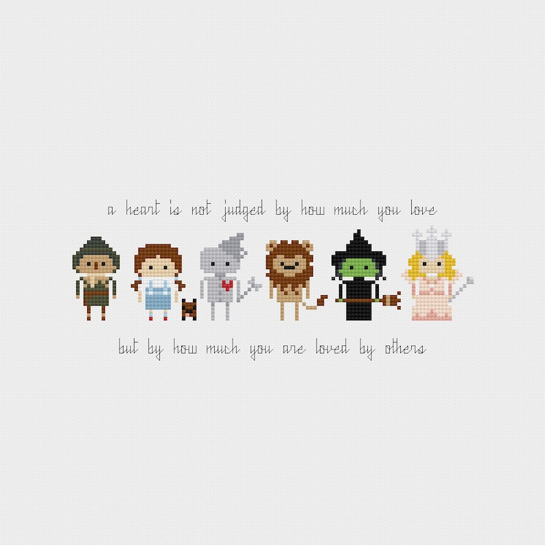 The Wizard of Oz Quote Cross Stitch Pattern PDF Instant image 0
