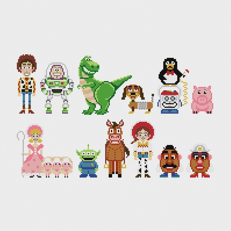 Disney Toy Story Cross Stitch Pattern PDF Instant Download image 0