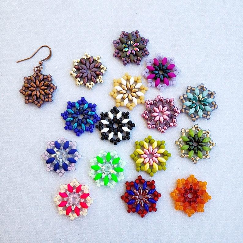 Rose Window Earring Bead Kit for DIY Earrings image 0