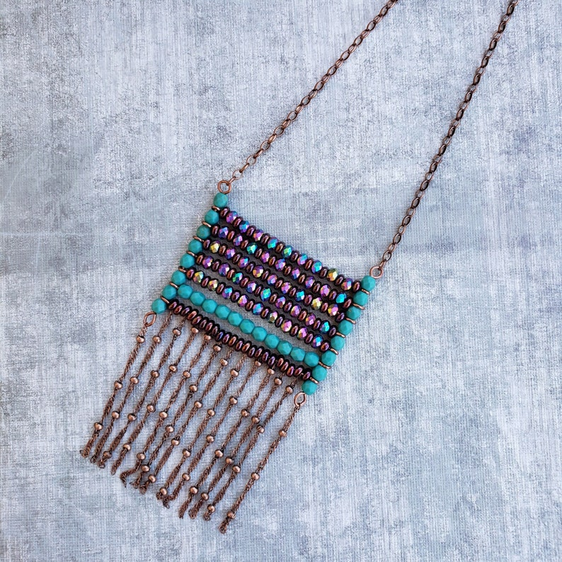 Abacus Fringe Bead Kit for DIY Necklace image 0