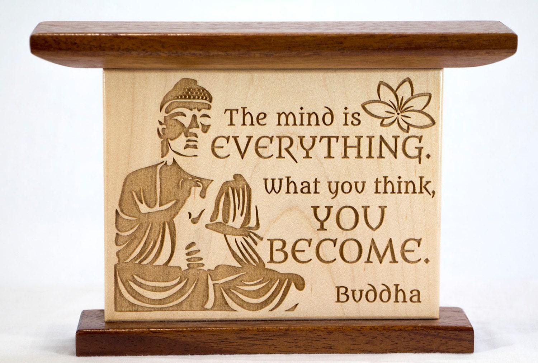 Buddhist Wall Art Hardwood Home Decor Buddhism Quote Plaque. | Etsy