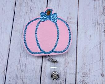 Pink Pumpkin Labor and Delivery Nurse Badge Reel ID Holder Retractable Pumpkin Badge Reel Pediatric Felt Badge Reel OBGYN Gift Fall