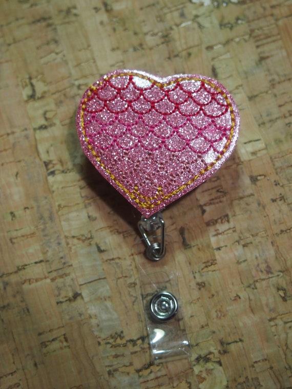 Mermaid Heart Badge Reel   Nurse Badge Reel ID Holder Retractable Badge  Pediatric Nurse Gift Cardiology Id Card Doctor Hospital Mermaid Tail