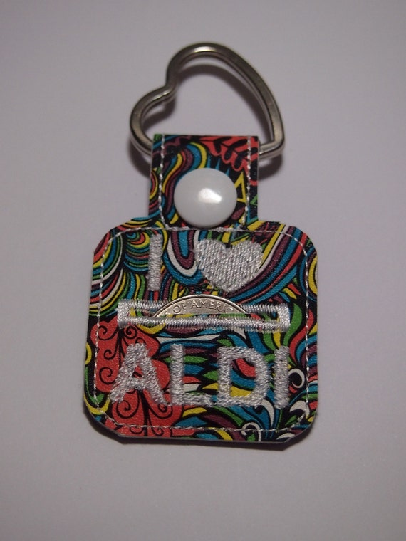 Aldi Quarter keeper Keychain CHOOSE YOUR DESIGN give as gifts!