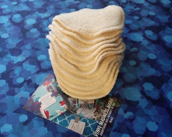 Organic Cotton Facial rounds | Cotton Sherpa | Make Up Remover Pads Facial Care (several different amounts to choose from) Facial Wipes