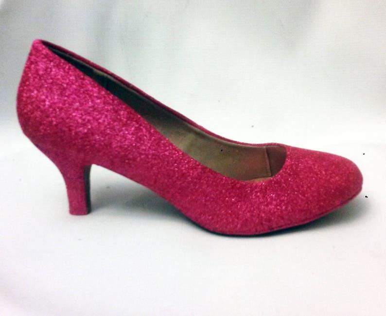 6afedce30fa4 Glitter Heels   Pink Glitter Heels   Wedding Shoes   Sparkle