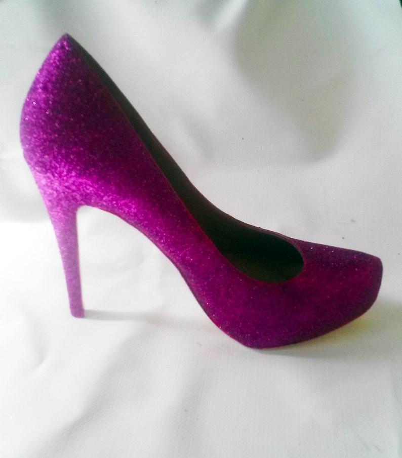 8b8a3d873b6c Glitter Heels   Fuchsia Glitter Heels   Wedding Shoes