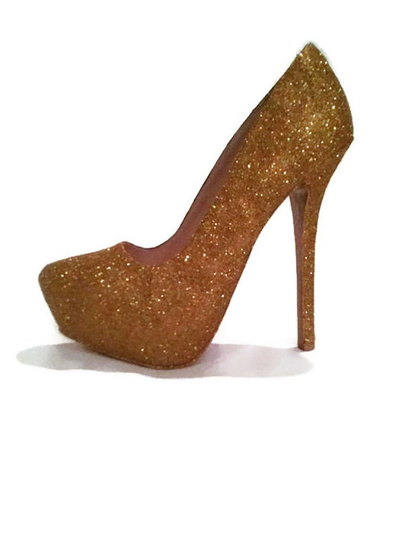 Glitter Heels   Gold Glitter Heels   Wedding Shoes   Sparkle  8421a6459