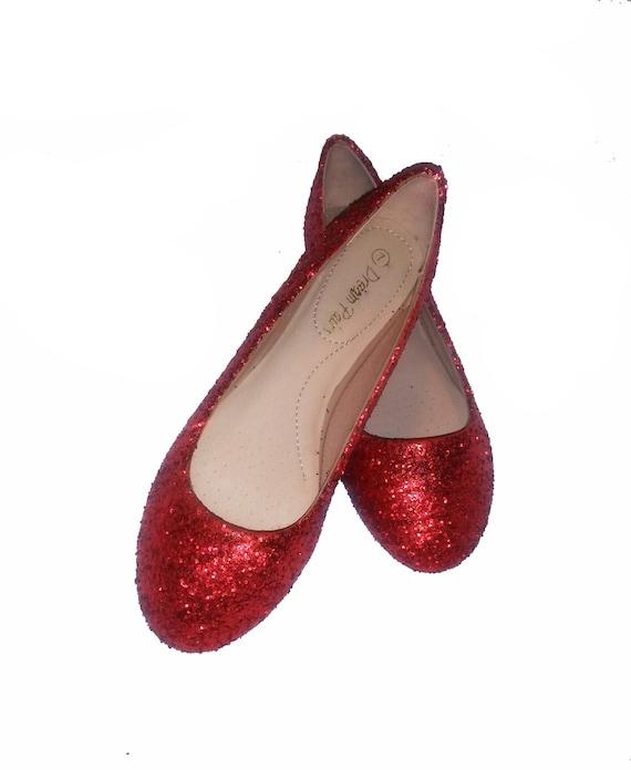 Glitter Flats / Red Glitter Flats
