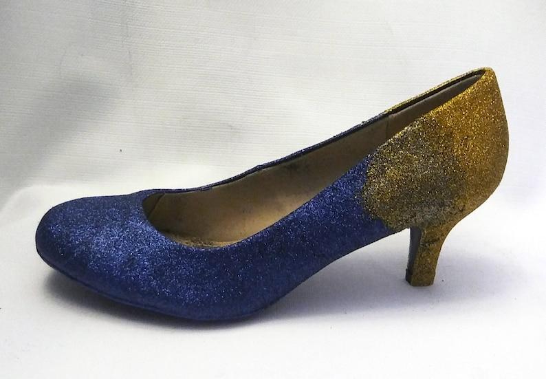 88078b6762b9 Ombre Glitter Heels   Navy Blue Glitter Heels   Wedding Shoes