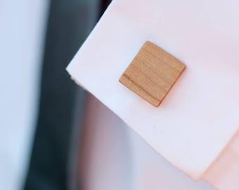 Wood Cuff Links - Maple