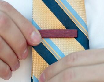 Wood Tie Clip - Purpleheart