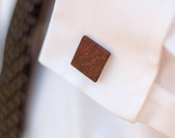 Wood Cuff Links- Lacewood