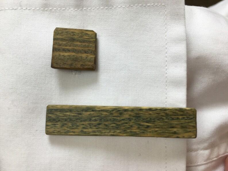 Wood Cuff Links Lignum Vitae