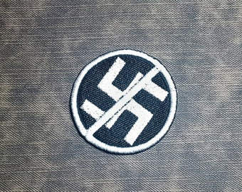 Protest Emblem Spray Paint Style Nazi Punks F Off Fully Embroidered Patch ACAB FTP BLM Perfect for Battle Jacket Battle Vest Patch