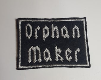 Orphan Maker Metal Rock Label Morale Embroidered Patch