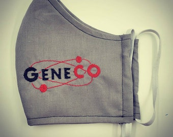 Genetic Company face mask,  Opera, goth aesthetic double layer, elastic, head ties, filter pocket