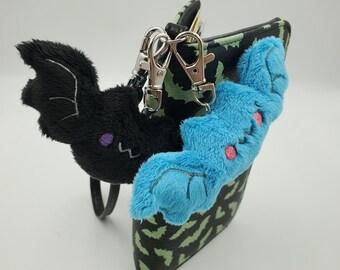 Cute Bat Keyfob Key Fob Keychain Key Chain Luggage Tag Purse Charm