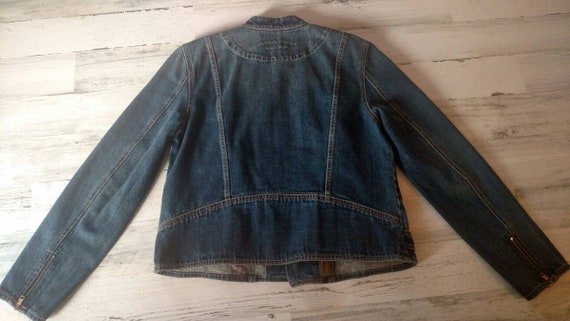 LAUREN By Ralph Lauren Vintage Denim Jacket  Zipp… - image 5