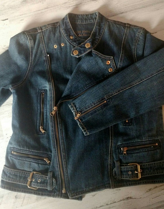 LAUREN By Ralph Lauren Vintage Denim Jacket  Zipp… - image 1