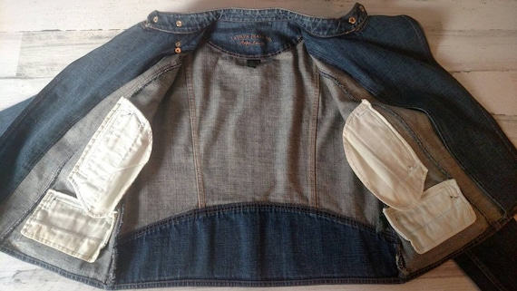 LAUREN By Ralph Lauren Vintage Denim Jacket  Zipp… - image 6