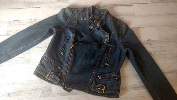 LAUREN By Ralph Lauren Vintage Denim Jacket  Zipp… - image 2