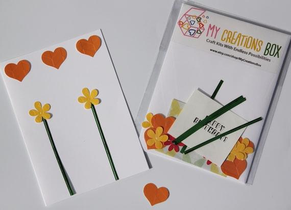 Card Making Kit Kids Craft Kit Kids Card Kit Diy Kids Kit Etsy