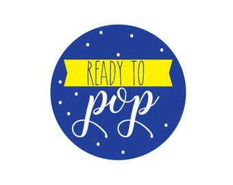 Ready To Pop Printable Baby Shower Blue And Yellow DIY Decorations Popcorn Cupcake Toppers