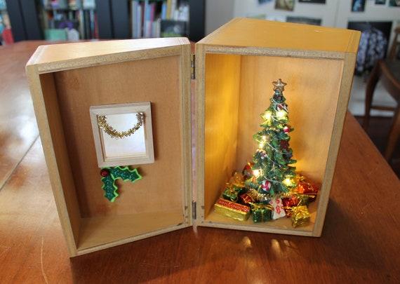Vintage Catalogue Box Christmas Dollhouse Upcycled Miniature Etsy