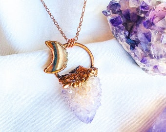 Harvest Moon Spirit Quartz Necklace