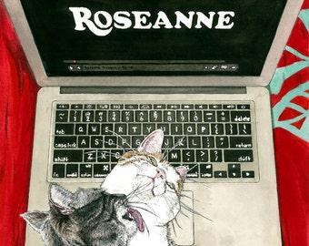 The Lesbian Sex Haiku Book (with Cats!): Roseanne