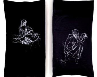 Girl Pile Pillowcase, Black (Standard)