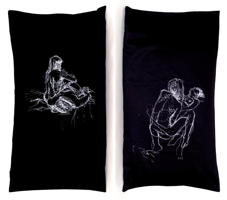 Girl Pile Pillowcase Black Standard image 0
