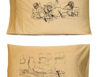 Girl Pile Pillowcase, Tan (Standard)