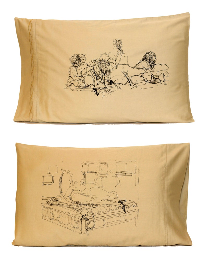 Girl Pile Pillowcase Tan Standard image 0