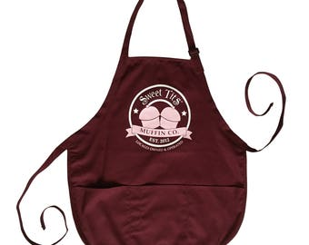 New Release - Sweet Tits Muffin Co. [ Apron ] (Black Label) - by Denis Caron (L.A.W.L.S.) - Corvink Approved