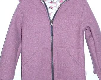 Woolwalk jacket, old pink walk jacket