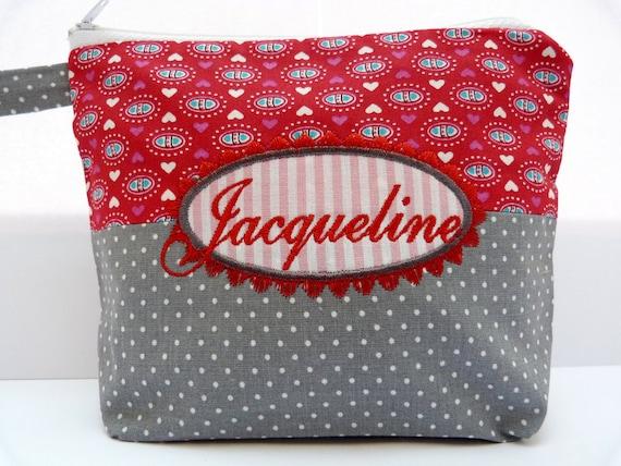 personalisiert Kulturtasche perfekt als Geschenk Schminktasche Name Kosmetikasche Makeup-Bag bestickte Tasche *WUNSCHNAME*