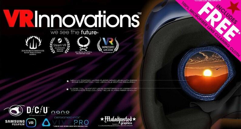 On Sale! Gear VR Lens And Adapter Mod Upgrade Kit For Vive / Vive Pro -  Nano Coated, UV Lenses - Distortion Software Edit No Longer Needed