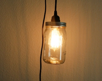 Mason Jar Pendant Light. Home. Rustic. Shabby Chic.