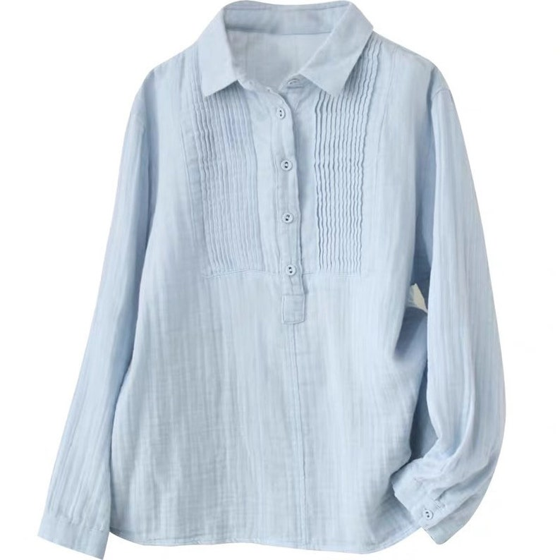 Comfortable Long Sleeves Blouse Tee Tops,White Linen Casual Tops,Loose Fitting Spring Linen Tops Blouse Women Linen Breathable Blouse