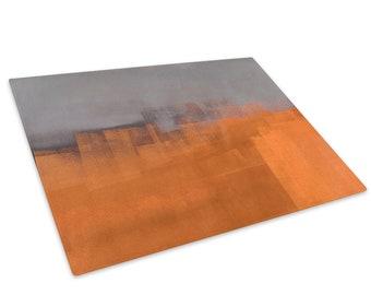 Sea Sunset Orange Blue Glass Chopping Board Kitchen Worktop Saver Protector