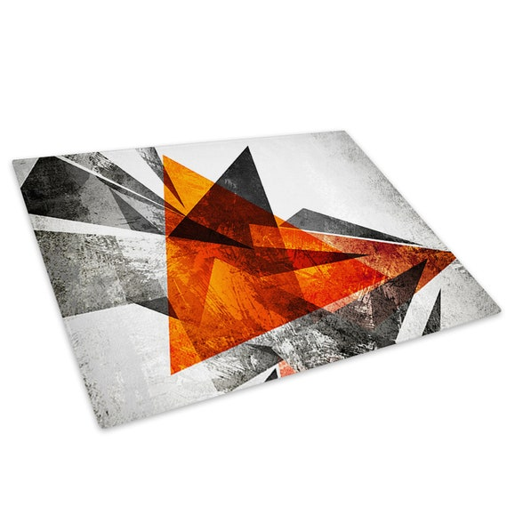 Grey Black White Marble Glass Chopping Board Kitchen Worktop Saver Protector