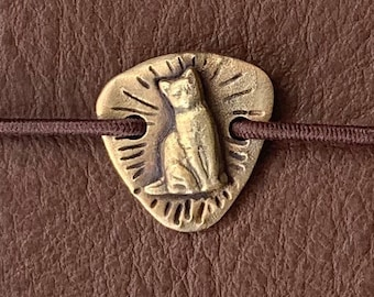 Two Hole Brass Cat Planner/ Traveler's Notebook charm