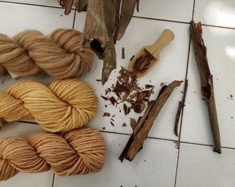 Dried eucalyptus bark for natural dyes. Whole or ground dyeing plant for ecoprinting, botanical block printing vegetable pigment from Italy