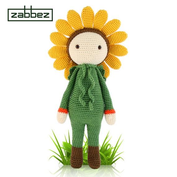 Crochet Pattern Amigurumi Doll Sunflower Sam Pdf Etsy